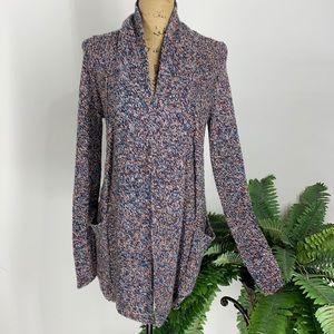 BCBG Long Multi Wool Cardigan